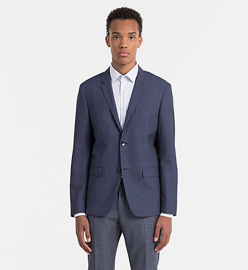 CALVINKLEIN Fitted Virgin Wool Blazer - LIMOGES - CALVIN KLEIN SUITS - main image