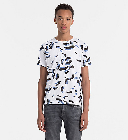 CALVINKLEIN Fitted T-shirt met print - PERFECT WHITE - CALVIN KLEIN WORK TO WEEKEND - main image