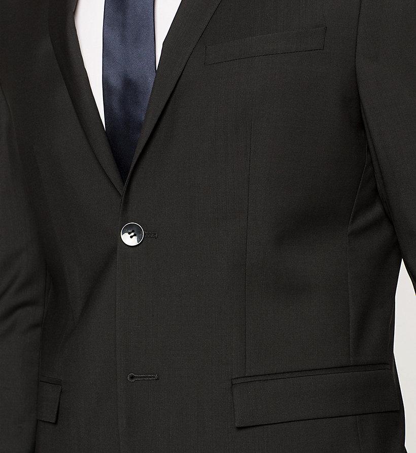 wool blazer perfect black calvin klein men detail image 2. Black Bedroom Furniture Sets. Home Design Ideas