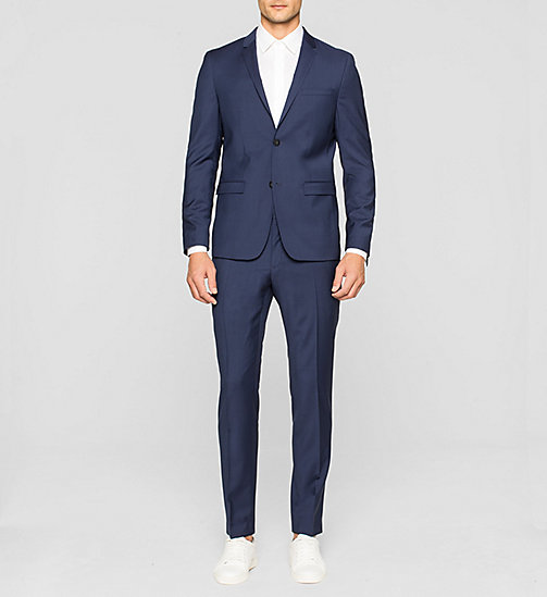 CALVINKLEIN Slim Refined Wool Blazer - INDIGO - CALVIN KLEIN Up to 50% - detail image 1