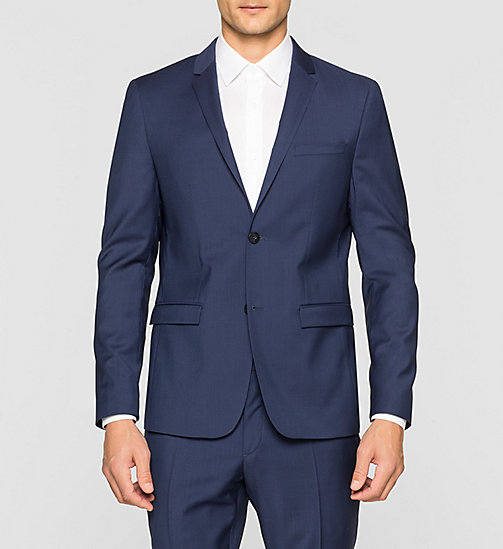 Slim Refined Wool Blazer - INDIGO - CALVIN KLEIN SUITS - main image