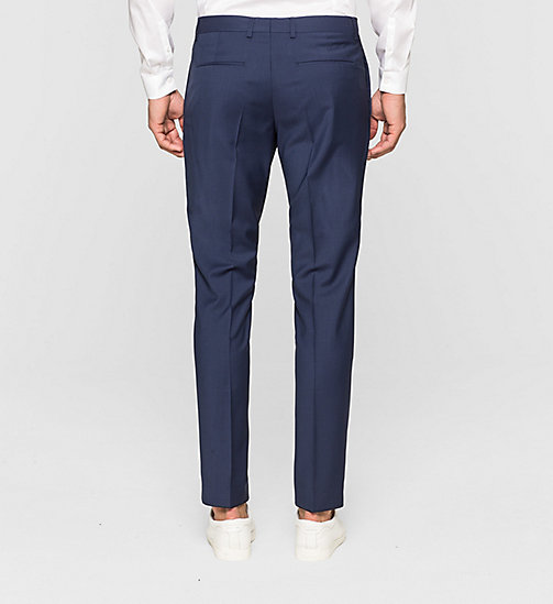CALVINKLEIN Slim Refined Wool Trousers - INDIGO - CALVIN KLEIN TROUSERS & SHORTS - detail image 1