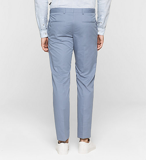 Fitted Cotton Twill Trousers - LIGHT VIOLET - CALVIN KLEIN  - detail image 1