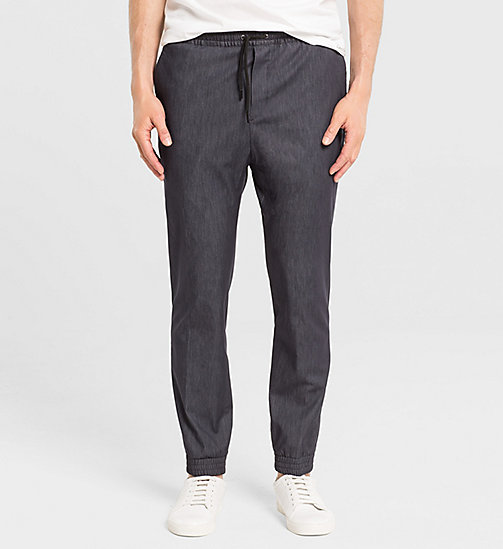 CALVINKLEIN Slim Techno Denim Trousers - TRUE NAVY - CALVIN KLEIN TROUSERS - main image