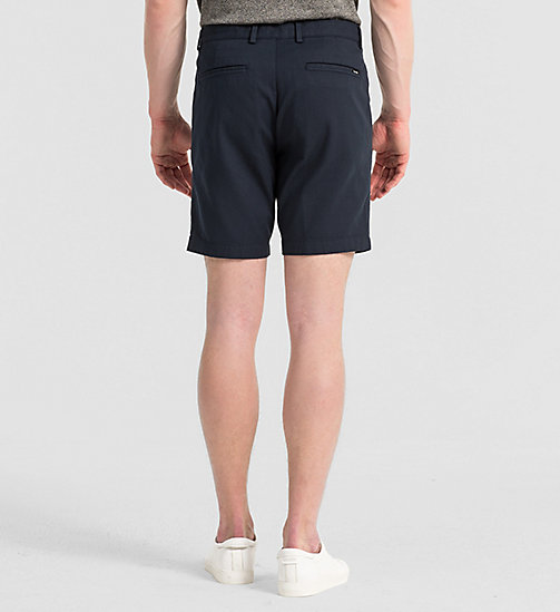 CALVINKLEIN Fitted Cotton Stretch Shorts - TRUE NAVY - CALVIN KLEIN TROUSERS & SHORTS - detail image 1