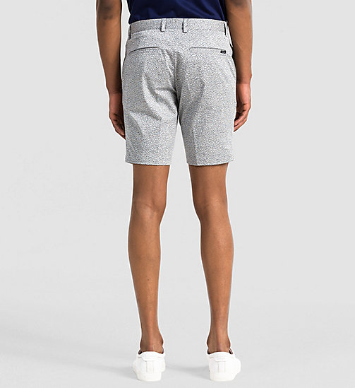 Fitted Cotton Stretch Shorts - LIGHT ZINC - CALVIN KLEIN SHORTS - detail image 1