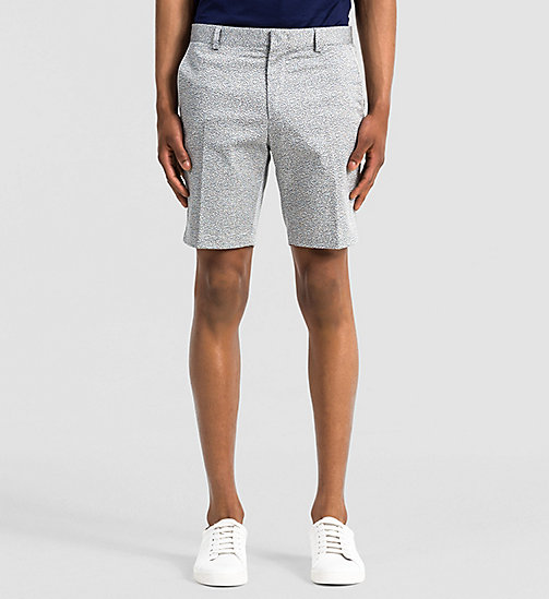 Fitted Cotton Stretch Shorts - LIGHT ZINC - CALVIN KLEIN SHORTS - main image