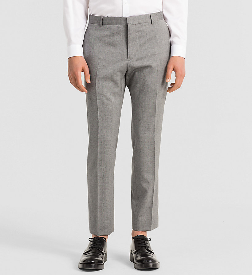 CALVINKLEIN Fitted Textured Wool Suit - MID GREY - CALVIN KLEIN SUITS - detail image 2