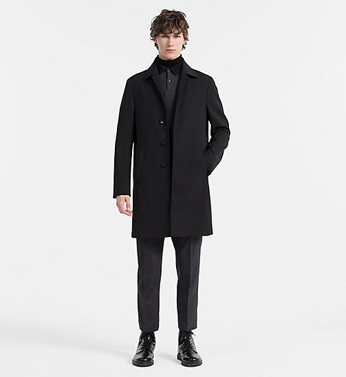 CALVINKLEIN Techno Wool Coat - PERFECT BLACK - CALVIN KLEIN COATS - detail image 1