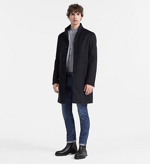 CALVINKLEIN Wool Cashmere Funnel Coat - TRUE NAVY - CALVIN KLEIN NEW ARRIVALS - detail image 1