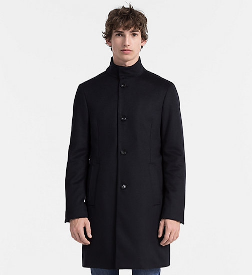 CALVINKLEIN Wool Cashmere Funnel Coat - TRUE NAVY - CALVIN KLEIN NEW ARRIVALS - main image