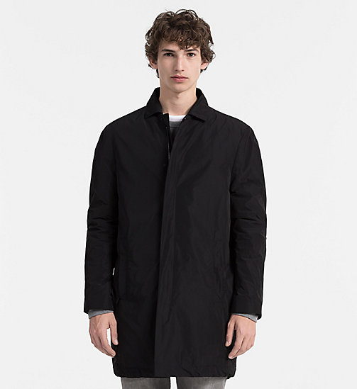 CALVINKLEIN Ottoman Coat - PERFECT BLACK - CALVIN KLEIN COATS - main image