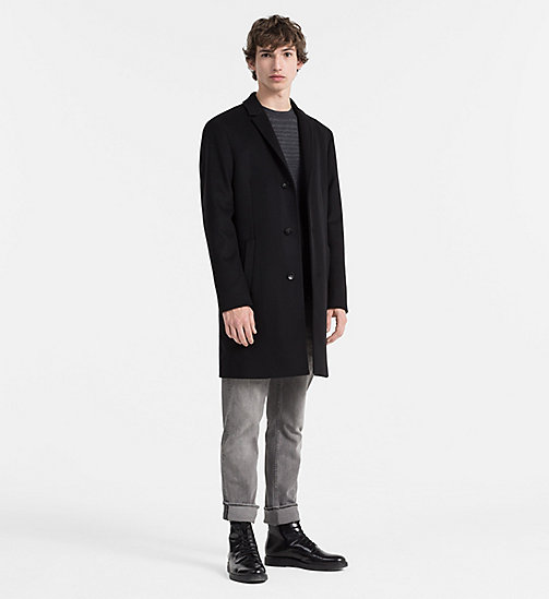 CALVINKLEIN Wool Cashmere Coat - PERFECT BLACK - CALVIN KLEIN COATS - detail image 1