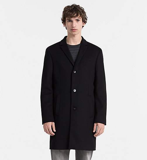 CALVINKLEIN Wool Cashmere Coat - PERFECT BLACK - CALVIN KLEIN COATS - main image