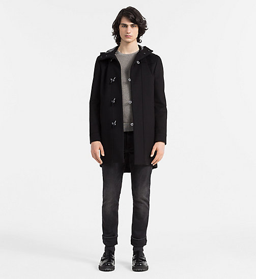 CALVINKLEIN Wool Cashmere Duffle Coat - PERFECT BLACK - CALVIN KLEIN COATS - detail image 1