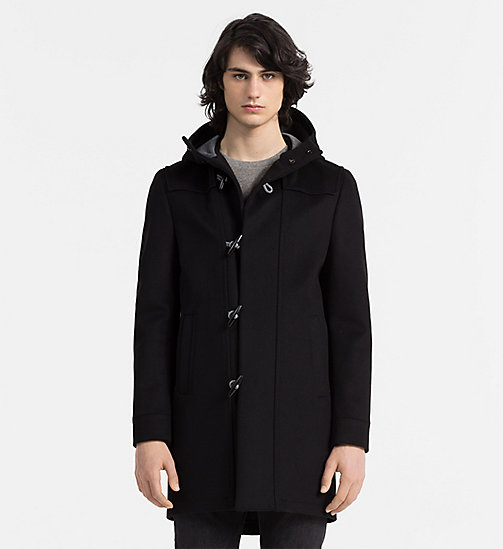 CALVINKLEIN Wool Cashmere Duffle Coat - PERFECT BLACK - CALVIN KLEIN COATS - main image