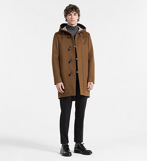 CALVINKLEIN Wool Cashmere Duffle Coat - TOFFEE - CALVIN KLEIN CLASSICS TO FALL FOR - detail image 1