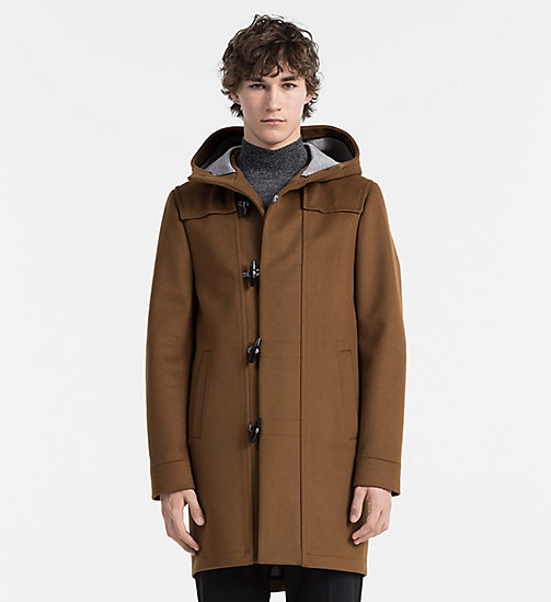CALVINKLEIN Wool Cashmere Duffle Coat - TOFFEE - CALVIN KLEIN CLASSICS TO FALL FOR - main image