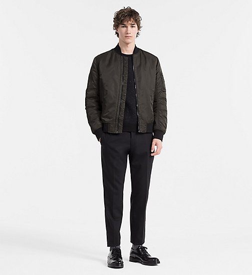 CALVINKLEIN Padded Bomber Jacket - BLACK INK - CALVIN KLEIN CLASSICS TO FALL FOR - detail image 1