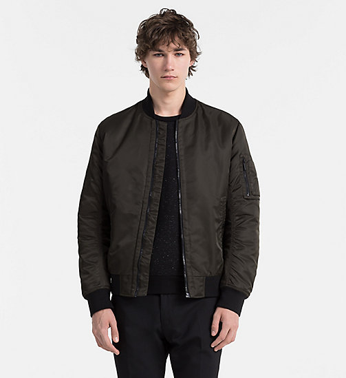CALVINKLEIN Padded Bomber Jacket - BLACK INK - CALVIN KLEIN CLASSICS TO FALL FOR - main image