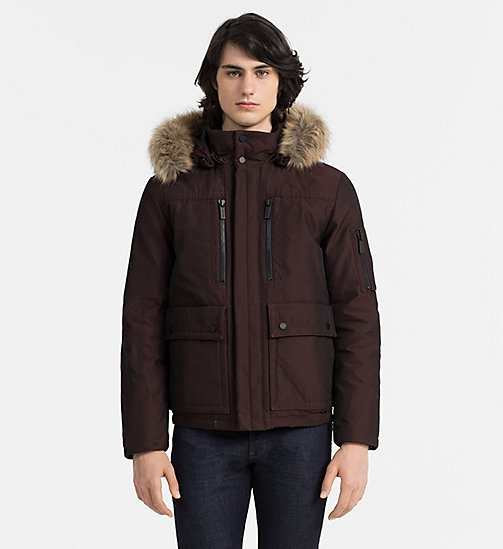 CALVINKLEIN Hooded Down Jacket - FIRED BRICK - CALVIN KLEIN MODERN CLASSIC - main image