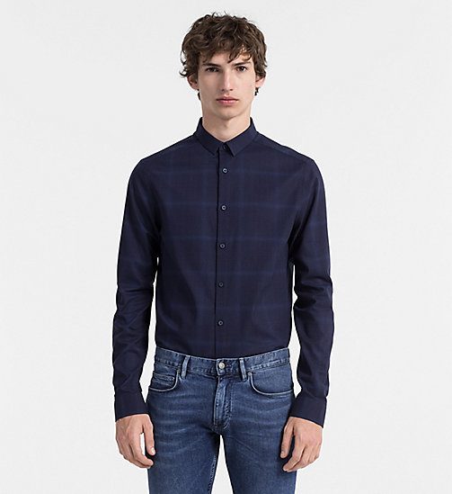 CALVINKLEIN Slim Check Shirt - INK BLUE - CALVIN KLEIN  - main image