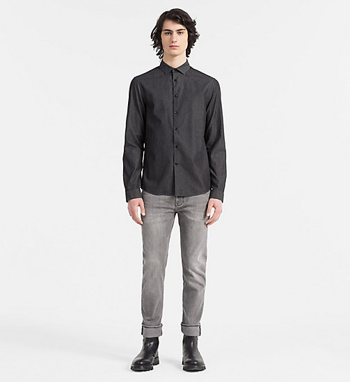 CALVINKLEIN Slim Denim Shirt - ANTHRACITE - CALVIN KLEIN CASUAL SHIRTS - detail image 1