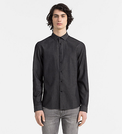 CALVINKLEIN Slim Denim Shirt - ANTHRACITE - CALVIN KLEIN CASUAL SHIRTS - main image