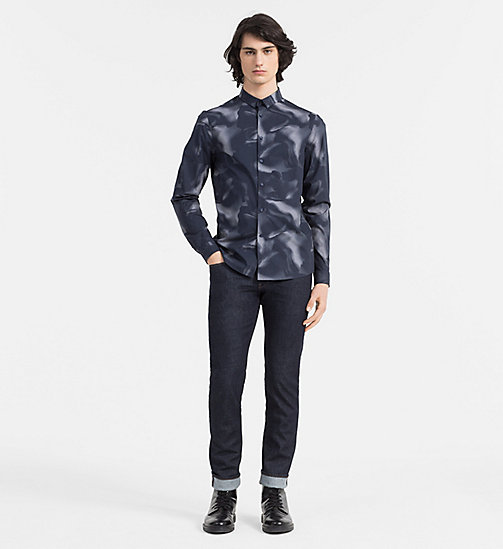 CALVINKLEIN Slim Printed Shirt - TRUE NAVY - CALVIN KLEIN CASUAL SHIRTS - detail image 1