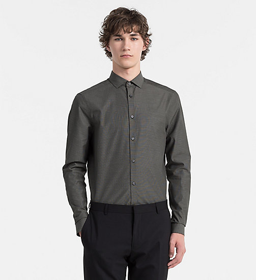 CALVINKLEIN Slim Check Shirt - BLACK INK - CALVIN KLEIN CLASSICS TO FALL FOR - main image
