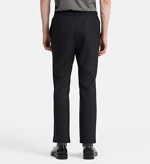 CALVINKLEIN Wool Flannel Trousers - PERFECT BLACK - CALVIN KLEIN TROUSERS - detail image 1