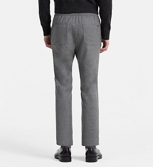 CALVINKLEIN Wool Flannel Trousers - ALLOY - CALVIN KLEIN TROUSERS - detail image 1