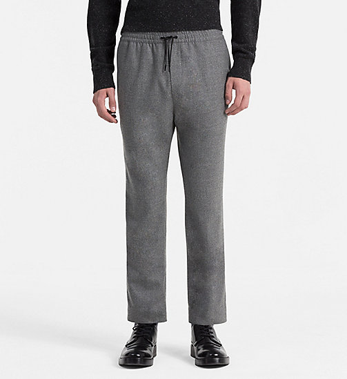 CALVINKLEIN Wool Flannel Trousers - ALLOY - CALVIN KLEIN TROUSERS - main image