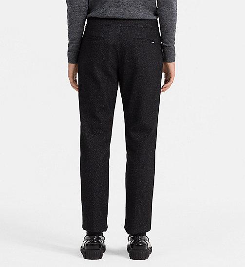 CALVINKLEIN Fitted Wool Blend Trousers - ANTHRACITE HEATHER - CALVIN KLEIN CLASSICS TO FALL FOR - detail image 1