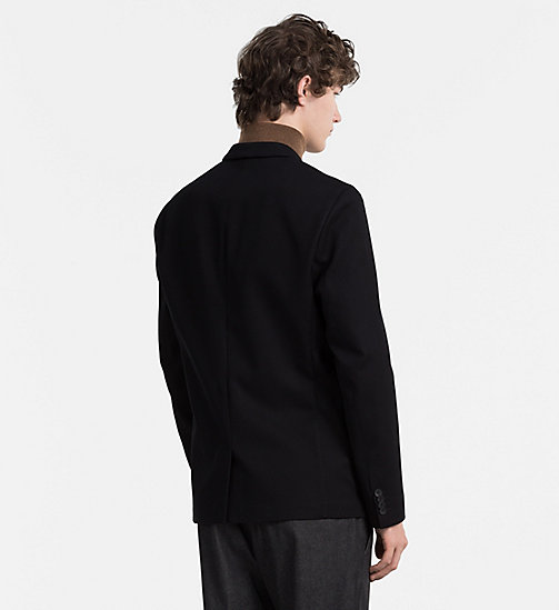 CALVINKLEIN Fitted Waffle Cotton Blazer - PERFECT BLACK - CALVIN KLEIN CLASSICS TO FALL FOR - detail image 1