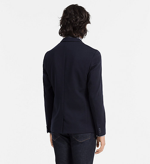 CALVINKLEIN Fitted Jersey Blazer - TRUE NAVY - CALVIN KLEIN CLOTHES - detail image 1