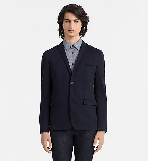 CALVINKLEIN Fitted Jersey Blazer - TRUE NAVY - CALVIN KLEIN CLOTHES - main image