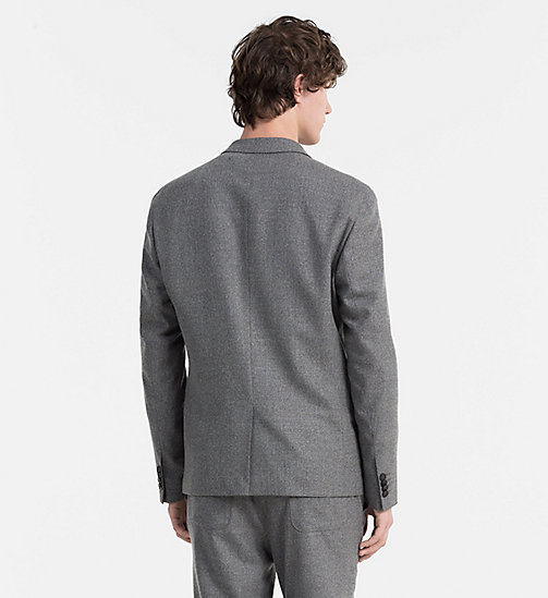 CALVINKLEIN Slim Wool Flannel Blazer - ALLOY - CALVIN KLEIN CLASSICS TO FALL FOR - detail image 1