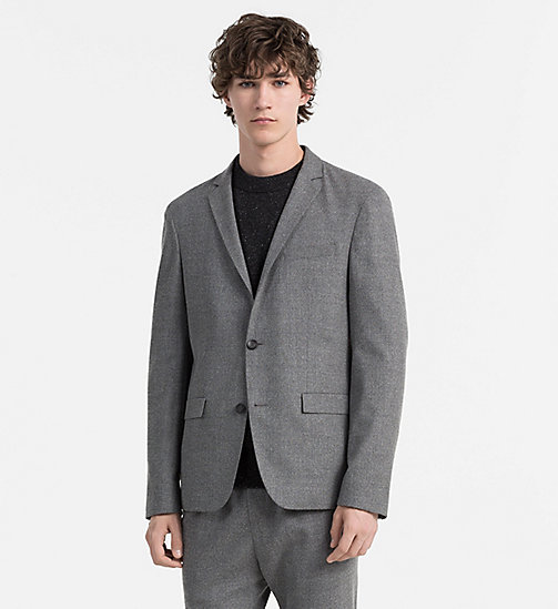 CALVINKLEIN Slim Wool Flannel Blazer - ALLOY - CALVIN KLEIN CLASSICS TO FALL FOR - main image