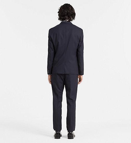 CALVINKLEIN Slim Wool Check Suit - TRUE NAVY - CALVIN KLEIN NEW ARRIVALS - detail image 1