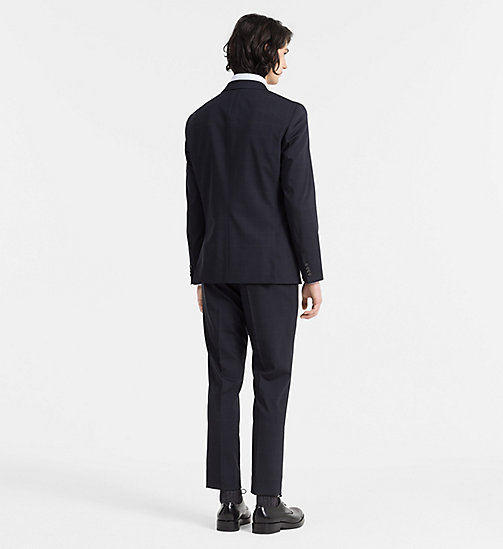 CALVINKLEIN Fitted Wool Check Suit - TRUE NAVY - CALVIN KLEIN NEW ARRIVALS - detail image 1