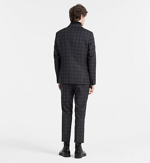 CALVINKLEIN Fitted Wool Check Suit - ASPHALT - CALVIN KLEIN SUITS - detail image 1