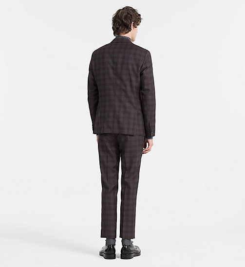 CALVINKLEIN Fitted Wool Check Suit - ZINFANDEL - CALVIN KLEIN SUITS - detail image 1