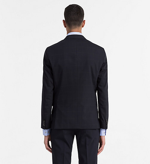 CALVINKLEIN Fitted Wool Stretch Blazer - TRUE NAVY - CALVIN KLEIN MODERN CLASSIC - detail image 1