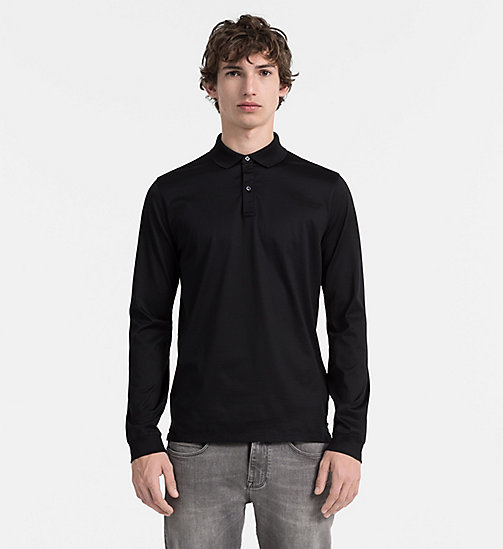 CALVIN KLEIN JEANS Longsleeve Polo - PERFECT BLACK - CALVIN KLEIN CLOTHES - main image