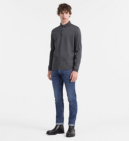 CALVINKLEIN Longsleeve Polo - ASPHALT HEATHER - CALVIN KLEIN CLOTHES - detail image 1