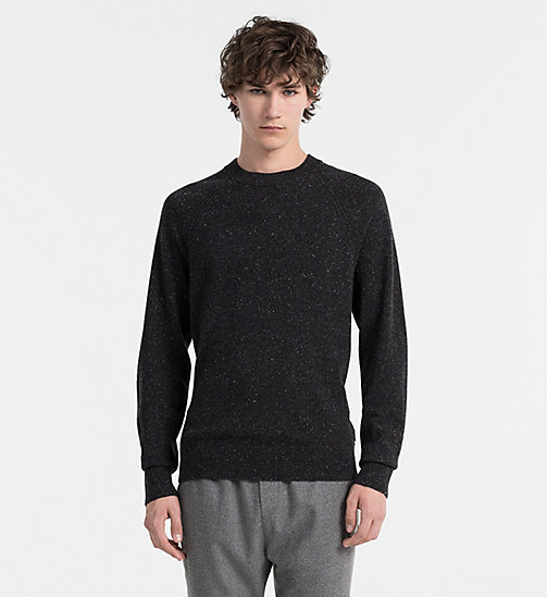 CALVIN KLEIN JEANS Cashmere Sweater - PERFECT BLACK - CALVIN KLEIN JUMPERS - main image