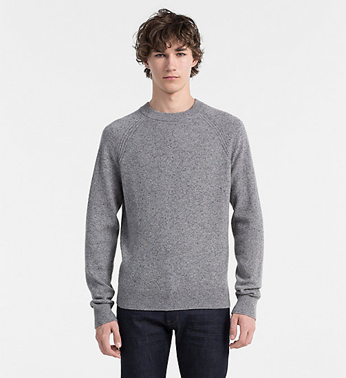 CALVIN KLEIN JEANS Cashmere Sweater - MID GREY HEATHER - CALVIN KLEIN JUMPERS - main image