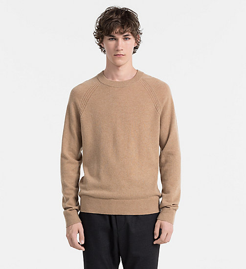 CALVIN KLEIN JEANS Cashmere Sweater - CAMEL HEATHER - CALVIN KLEIN JUMPERS - main image