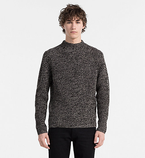 CALVINKLEIN Wool Cashmere Sweater - PERFECT BLACK HEATHER - CALVIN KLEIN JUMPERS - main image